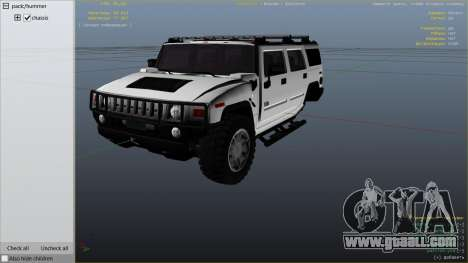 GTA 5 Hummer H2 right side view