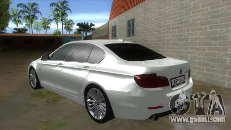 BMW 530XD F10 for GTA San Andreas back left view
