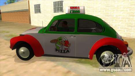 Volkswagen Beetle Pizza for GTA San Andreas left view