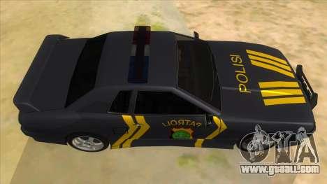 Elegy NR32 Police Edition Grey Patrol for GTA San Andreas inner view