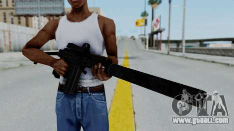 9A-91 Kobra and Suppressor for GTA San Andreas third screenshot