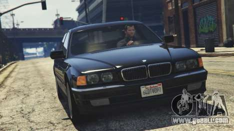 GTA 5 BMW 750i (e38) back view