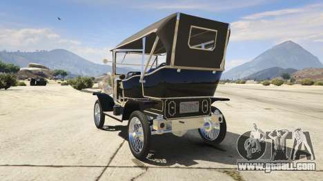GTA 5 Ford T 1910 Passenger Open Touring Car rear left side view