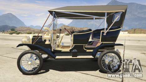 GTA 5 Ford T 1910 Passenger Open Touring Car left side view
