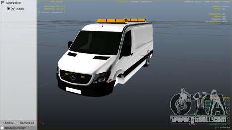 GTA 5 Mercedes-Benz Sprinter Worker Van right side view