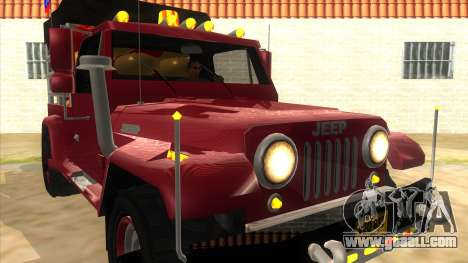 Jeep Pick Up Stylo Colombia for GTA San Andreas back view
