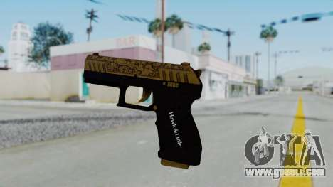 GTA 5 Online Lowriders DLC Combat Pistol for GTA San Andreas second screenshot