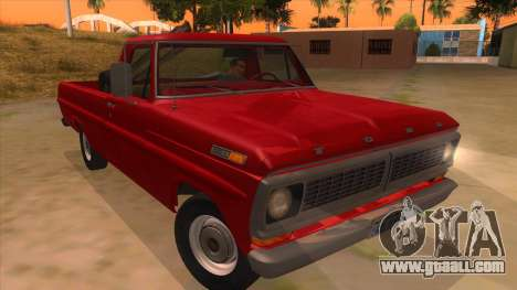 Ford F-100 1970 for GTA San Andreas back view