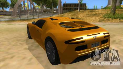 GTA 5 Truffade Adder for GTA San Andreas back left view