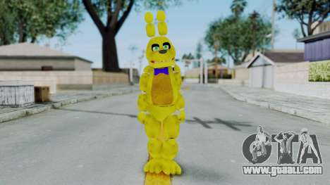 FNAF Spring Bonnie for GTA San Andreas second screenshot