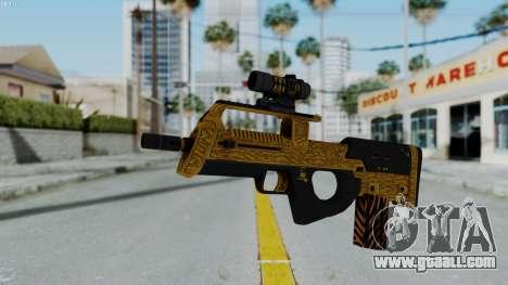 GTA 5 Online Lowriders DLC Assault SMG for GTA San Andreas second screenshot