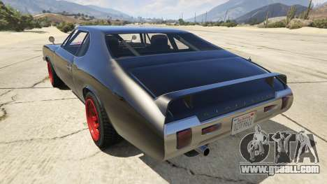 GTA 5 Death Proof Stallion rear left side view