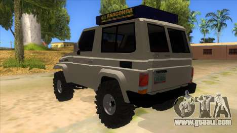 Toyota Machito 4X4 for GTA San Andreas back left view