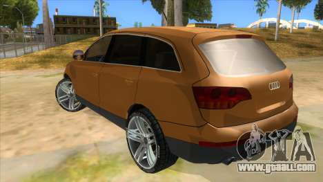 Audi Q7 for GTA San Andreas back left view