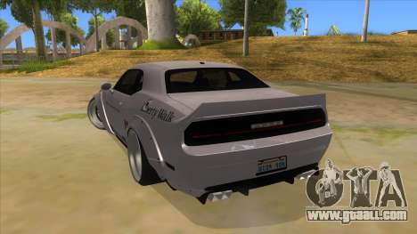 2012 DODGE CHALLENGER SRT8 Liberty Walk for GTA San Andreas back left view