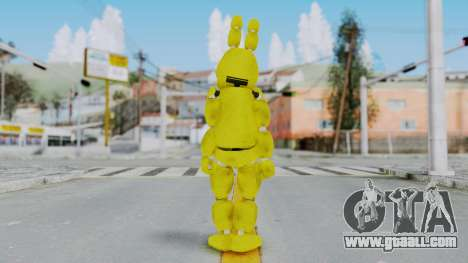 FNAF Spring Bonnie for GTA San Andreas third screenshot