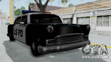 Police Cabbie for GTA San Andreas back left view