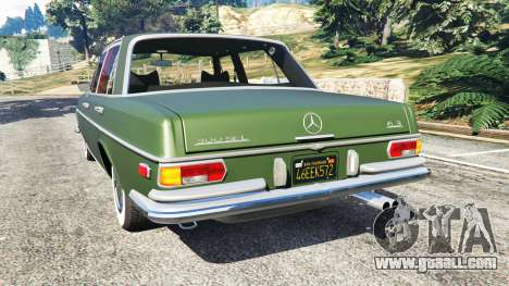 GTA 5 Mercedes-Benz 300SEL 6.3 1972 rear left side view