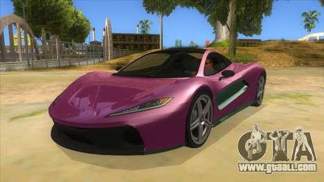 GTA 5 Progen T20 Styled version for GTA San Andreas