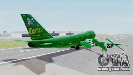 Boeing 747-100 Grove Street for GTA San Andreas left view