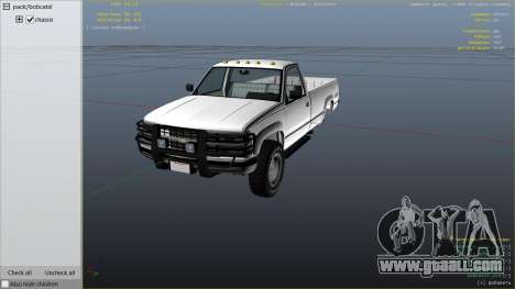 GTA 5 1994 Chevrolet Silverado right side view