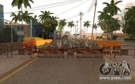 Repair work on Grove Street for GTA San Andreas ninth screenshot