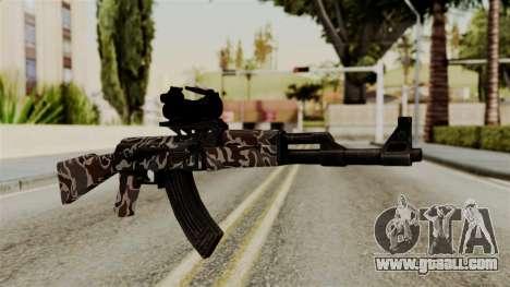 AK-47 F.C. Camo for GTA San Andreas
