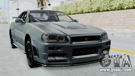 Nissan Skyline GT-R R34 2002 F&F4 for GTA San Andreas