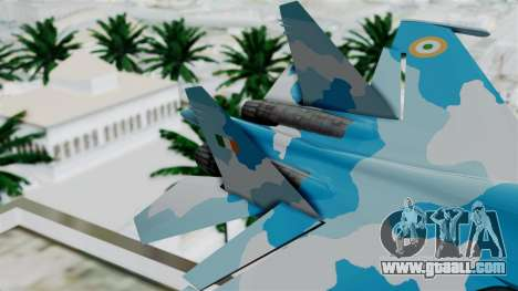 SU-37 Indian Air Force for GTA San Andreas back left view