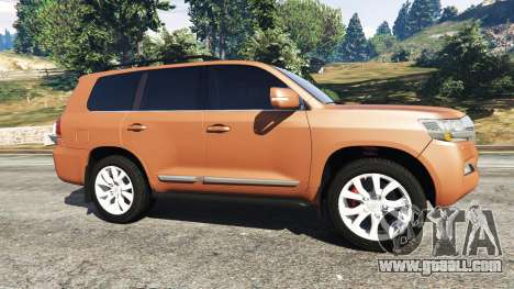 GTA 5 Toyota Land Cruiser 200 2016 left side view