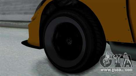 GTA 5 Karin Sultan RS Drift Big Spoiler PJ for GTA San Andreas back left view