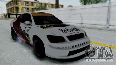 GTA 5 Karin Sultan RS Drift Big Spoiler PJ for GTA San Andreas upper view