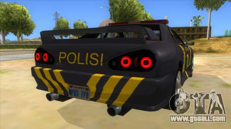 Elegy NR32 Police Edition Grey Patrol for GTA San Andreas right view