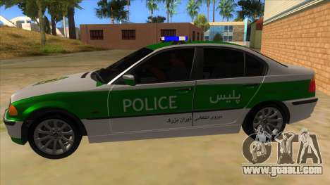 BMW Iranian Police for GTA San Andreas left view