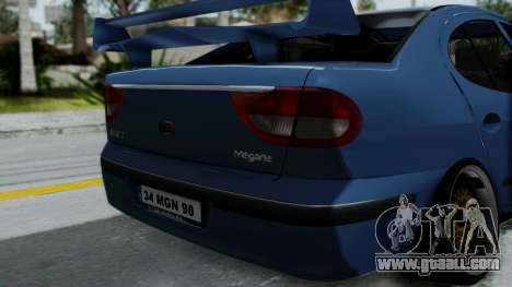 Renault Megane Stance for GTA San Andreas back view