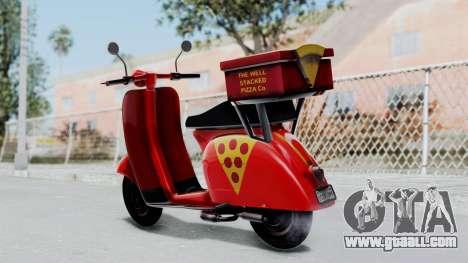 GTA 5 Pizza Boy for GTA San Andreas left view