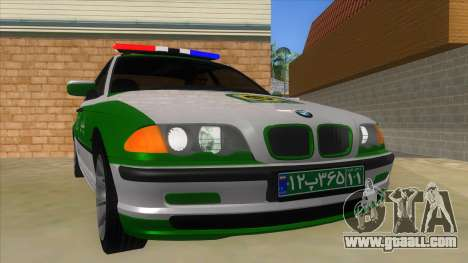 BMW Iranian Police for GTA San Andreas back view