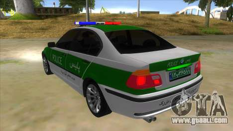 BMW Iranian Police for GTA San Andreas back left view