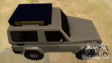 Toyota Machito 4X4 for GTA San Andreas inner view