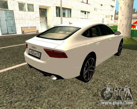 Audi RS7 Quattro for GTA San Andreas right view