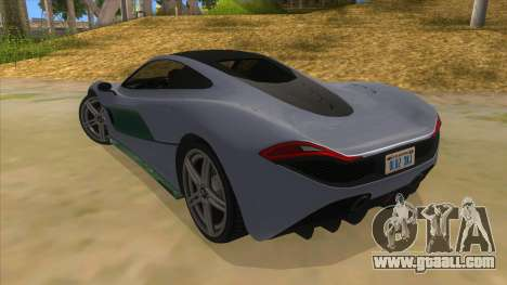 GTA 5 Progen T20 Lights version for GTA San Andreas back left view