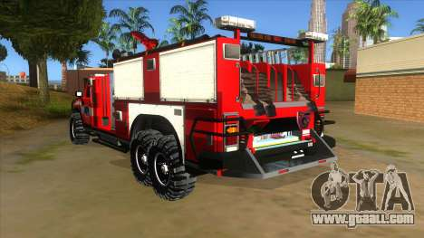 HUMMER H2 Firetruck for GTA San Andreas back left view
