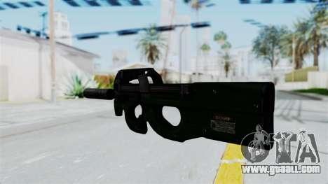 P90 Green for GTA San Andreas second screenshot