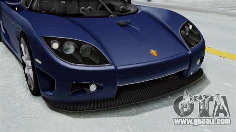 Koenigsegg CCX for GTA San Andreas upper view