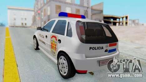 Opel Corsa C Policia for GTA San Andreas left view