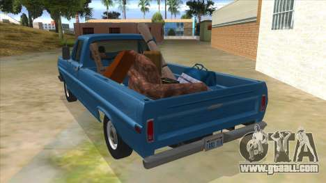 Ford F-100 1970 for GTA San Andreas back left view