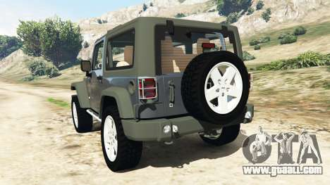 GTA 5 Jeep Wrangler 2012 v1.1 rear left side view