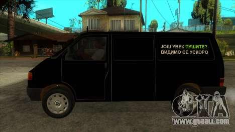 VW T4 Mrtvačka wheels for GTA San Andreas left view