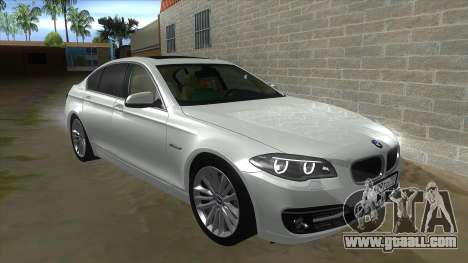 BMW 530XD F10 for GTA San Andreas inner view