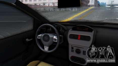 Opel Corsa C Policia for GTA San Andreas back view